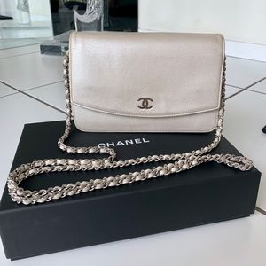 Chanel Wallet on a Chain in Iridescent